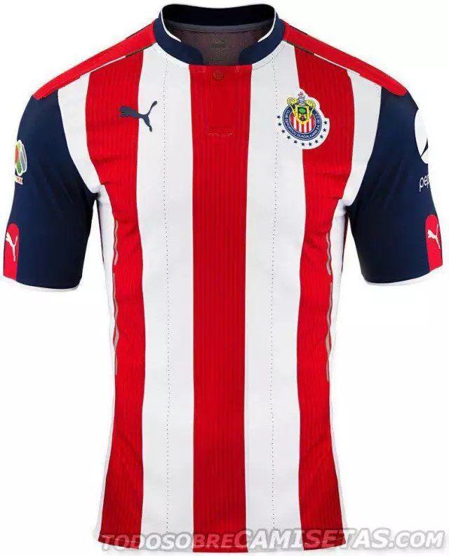 Guadalajara Chivas Jersey 2016 17 Home Soccer Shirt  9b6c6186a96ce