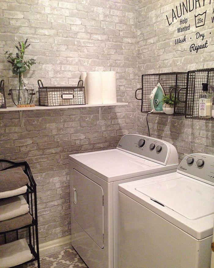 Papier Peint Trompe L Oeil Conseils Brick Wallpaper Bathroom Stick On Tiles
