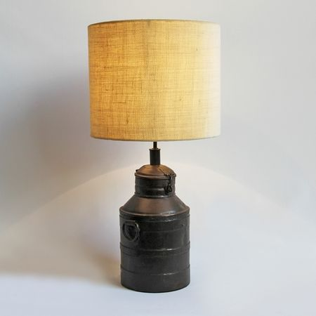 Industrial Milk Can Table Lamp Mix Furniture Old Milk Cans Milk Can Decor Rustic Lamps