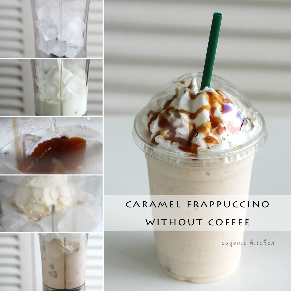 How to Make Caramel Frappuccino without Coffee [Copycat