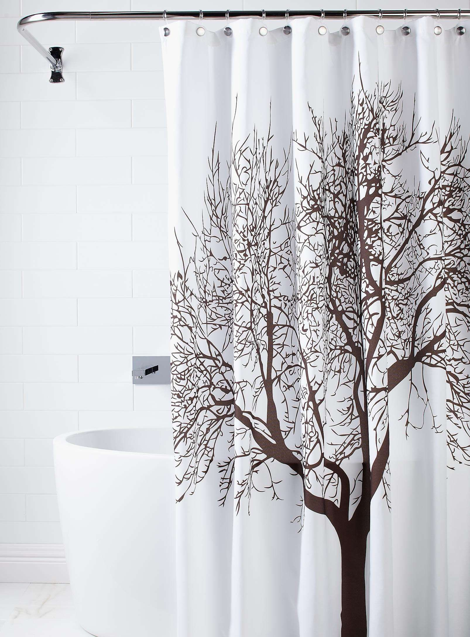 Sublime rideau de douche arbre toilette pinterest for Rideau de douche plus de 2 metres