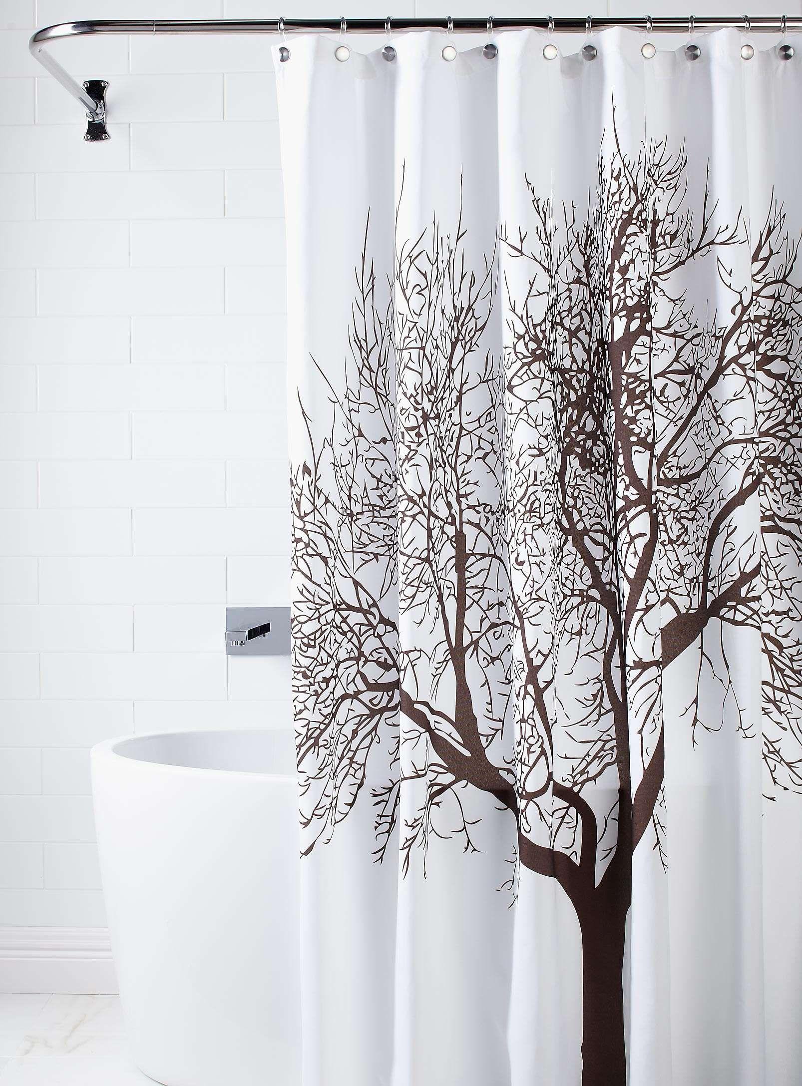 Sublime rideau de douche arbre | Accessoires salle de bains ...