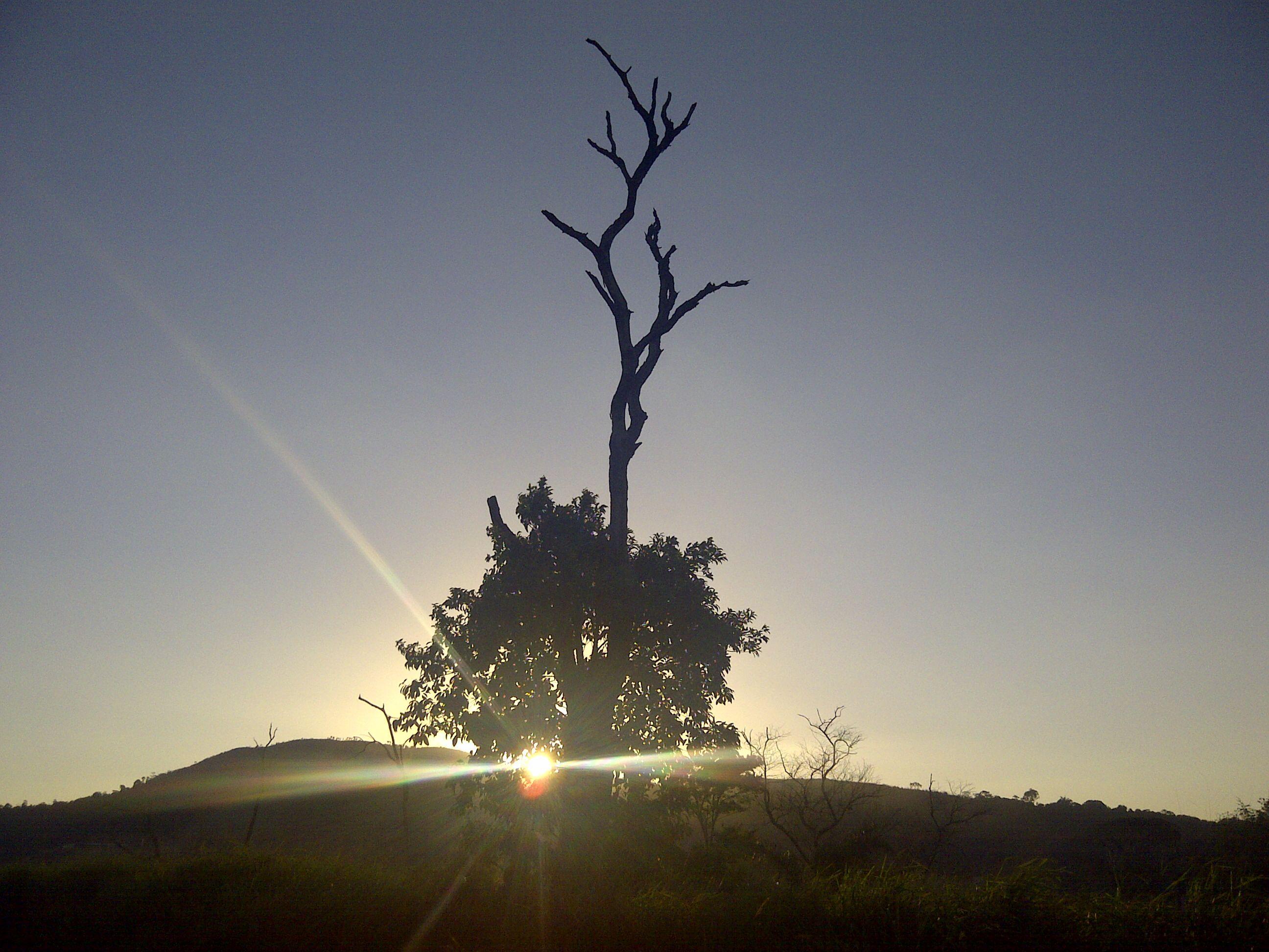 Por do sol em algum ponto da Estrada Imperial - Araçariguama