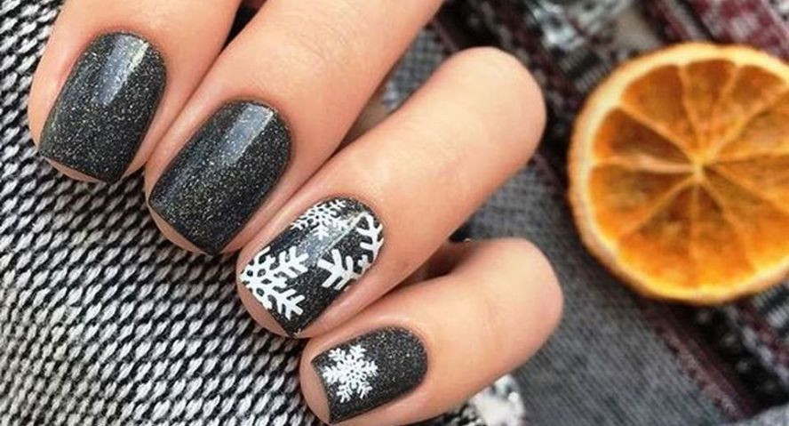 Winter Nails Designs Do Not Need To Be Complicated Either If You