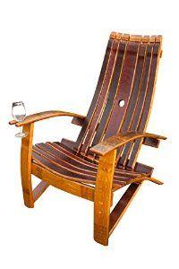 Amazon.com : Wine Barrel Adirondack Chair : Patio, Lawn & Garden