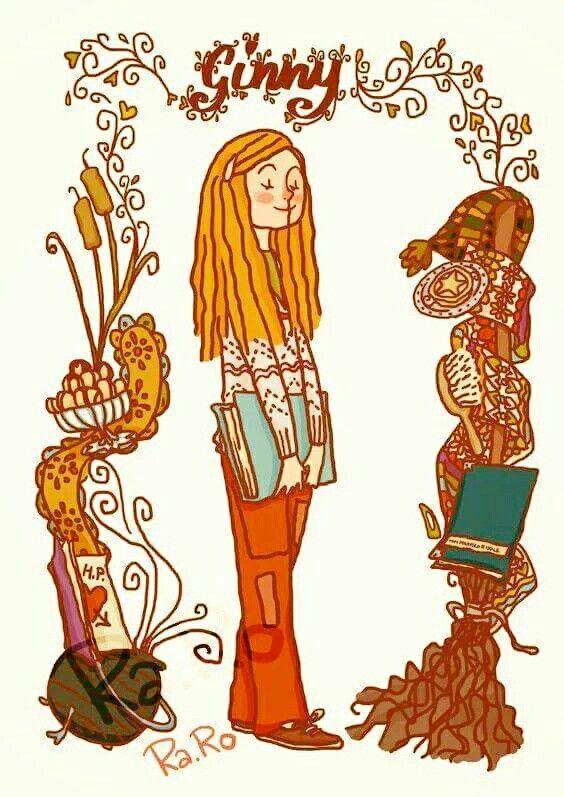 Coloriage Hermione Et Ginny.Ginny Hp Fan Art Inspiration Illustration Harry Potter