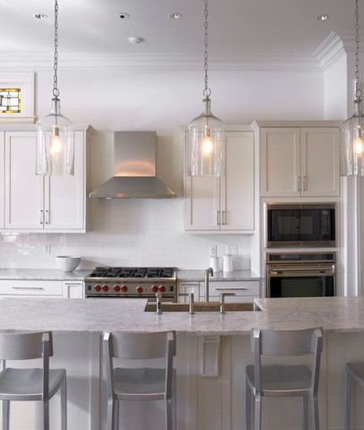 Tren Pencahayaan Dapur Modern Desain Minimalis Lampudapur - Light fitting over kitchen island