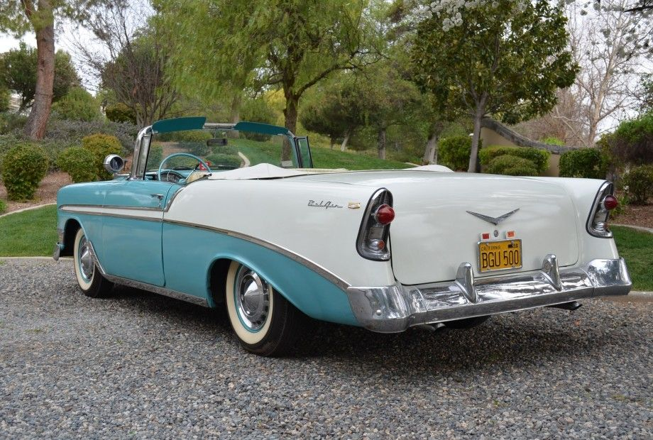 1956 Chevy Bel Air Convertible Survivor Claimed 30k Miles V8