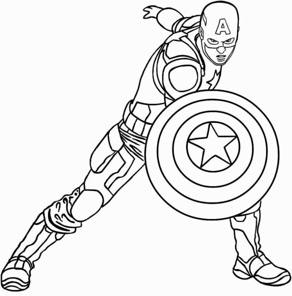 Captan-amerika Superhelden Malvorlagen zum Drucken und