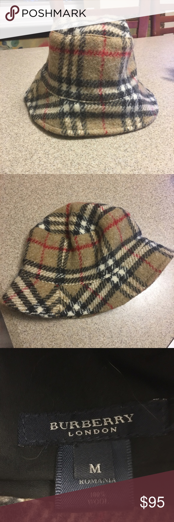 2dcda0a2b728d4 Burberry Bucket Hat Authentic 100% wool AUTHENTIC Burberry! This hat is a  must have to get through the winter. Like new condition. Burberry  Accessories Hats