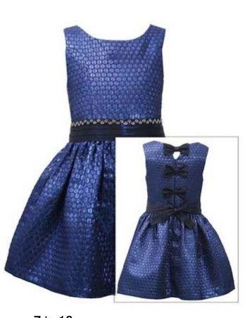 Tween Royal Brocade Holiday Dress Preorder 7 to 16 Years