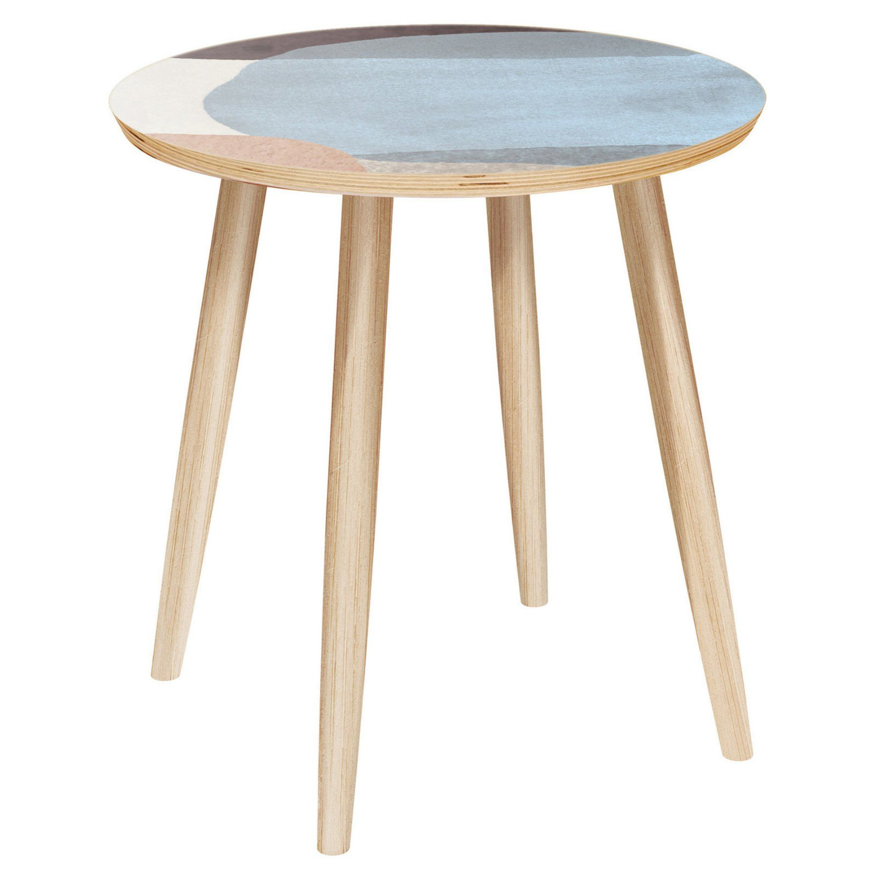 Nyekoncept Stella Nordic Watercolor Dowel Side Table 12004117
