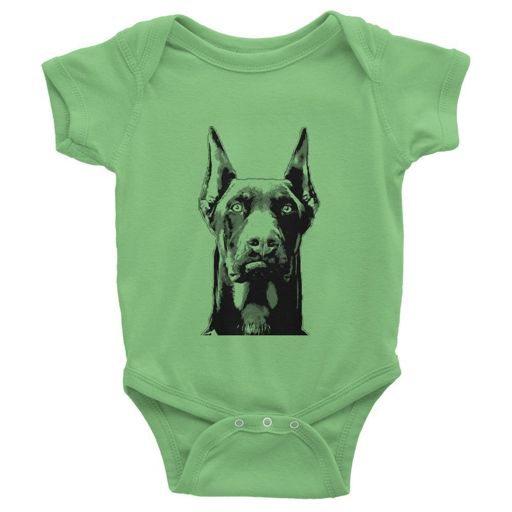 Doberman Pinscher Infant Baby Rib Short Sleeve One-Piece