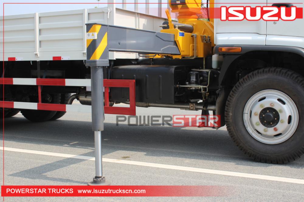 Custom Isuzu FVZ heavy duty Cargo truck with folding boom