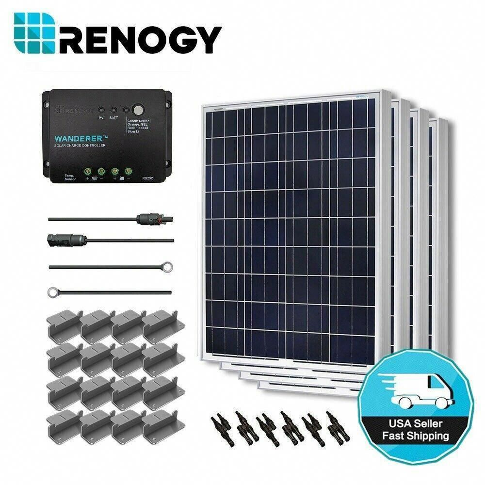 Renogy 400 Watt 12 Volt Polycrystalline Solar Starter Kit For Off Grid Solar System Solarpanels Solarenergy Solarpowe In 2020 Solar Kit Solar Energy Best Solar Panels