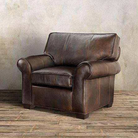 Brentwood Motion Leather Recliner In Matador Walnut | Arhaus Furniture