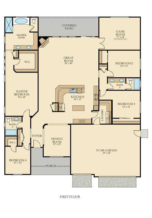Cathedral Plan 6003 New Home Plan In Camden Cove Pinnacle Series New House Plans New Homes House Plans