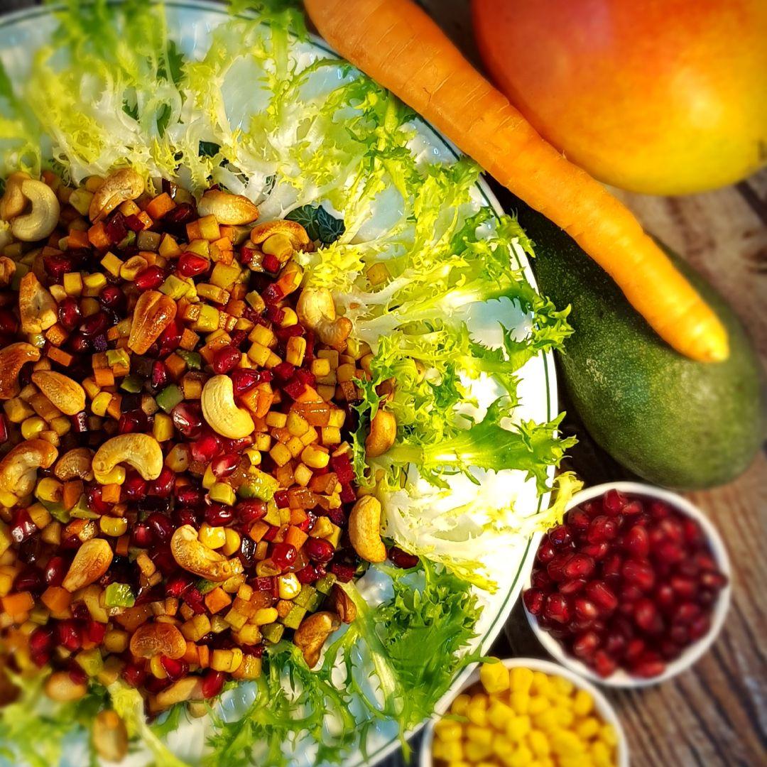 Fruits And Vegetables Salad سلطة الفواكه والخضار Vegetable Salad Salad Fruits And Vegetables