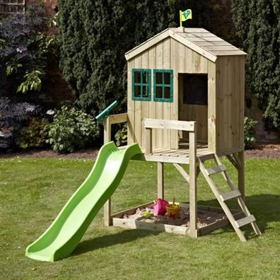 Tp Forest Cottage With Wavy Slide From Our Childrens Wooden