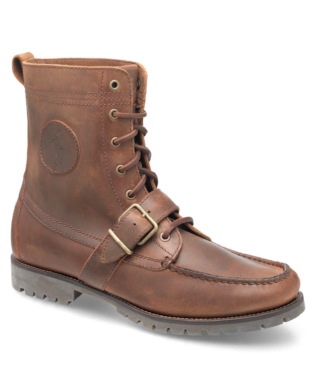 Polo Ralph Lauren Boots, Ranger Strap Boots - Mens Shoes - Macy\u0027s