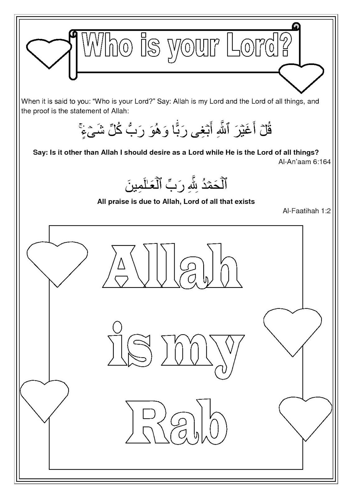 put together a short worksheet which can be downloaded inshallah HER…    Kindergarten worksheets [ 1600 x 1131 Pixel ]