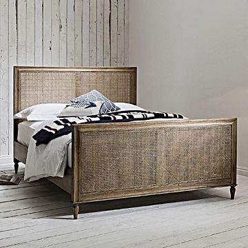 Classic Weathered Cane Bed King Size Stylish Furniture