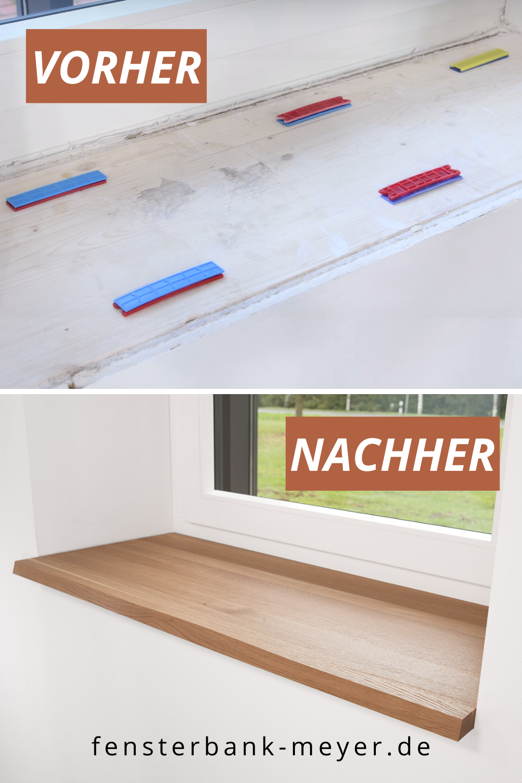 Fensterbank Innen Einbauen Schritt Fur Schritt Anleitung In 2020 Fensterbank Innen Fensterbank Innen Einbauen Fensterbanke Holz