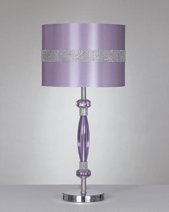 Purple Bling Lamps Purple Lamp Metal Table Lamps Purple Decor