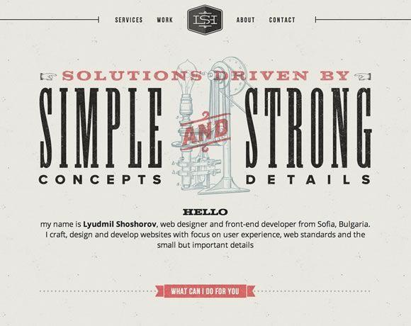 16 Inspiring Examples Of Retro And Vintage Elements In Web Design Web Design Ledger Vintage Website Design Web Design Victorian Web Design