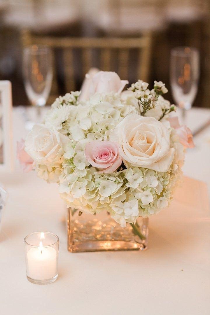 Romantic Chicago Wedding At Meyers Castle Square Vase CenterpiecesSmall