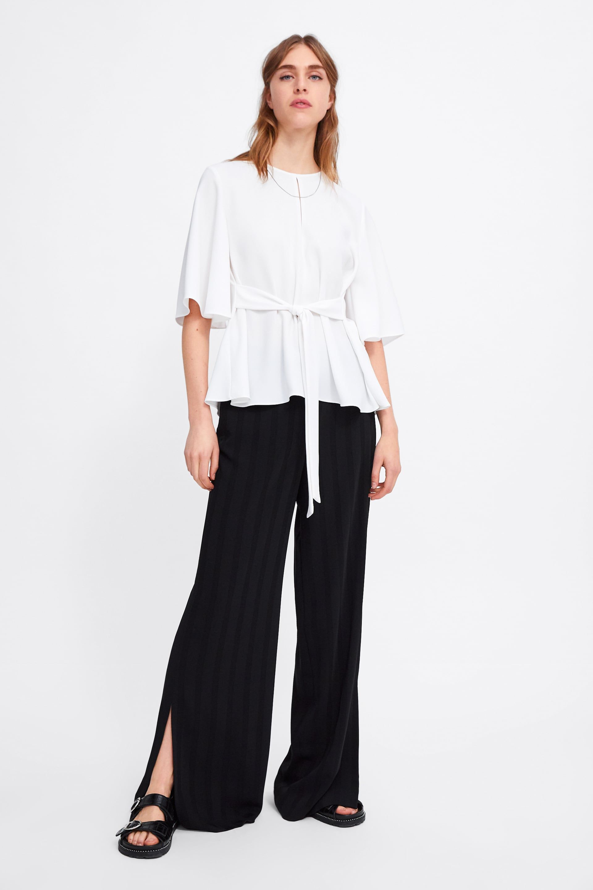 Flowing top with tie detail | Flowy tops, Lace dress with