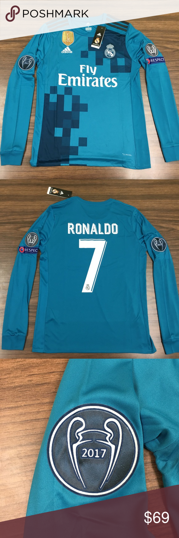 best loved b4663 afd74 Real Madrid Ronaldo Third long sleeve jersey 2017 Arguably ...