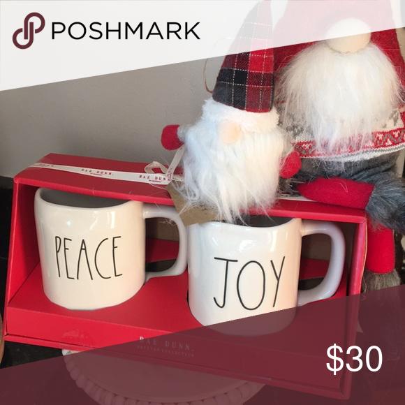 New RAE DUNN Peace Joy Christmas Mug Last Chance ️ New in ...