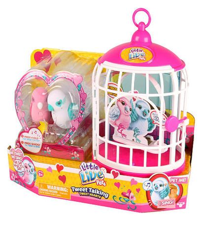 Little Live Pets Season 4 Love Birds With Cage Little Live Pets Girl Birthday Party Gifts Toys For Girls