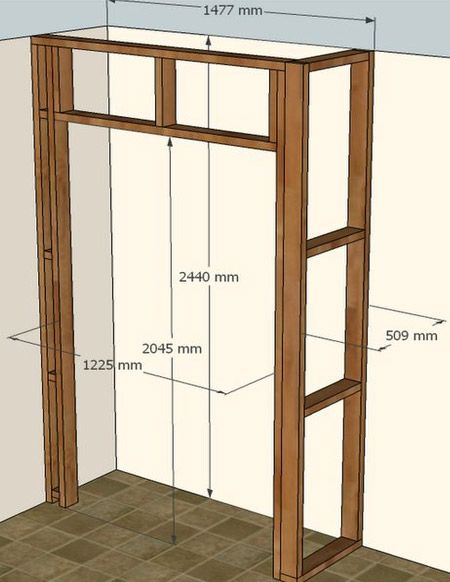 Build A Built In Cupboard Closet Or Wardrobe With Timber And Dry