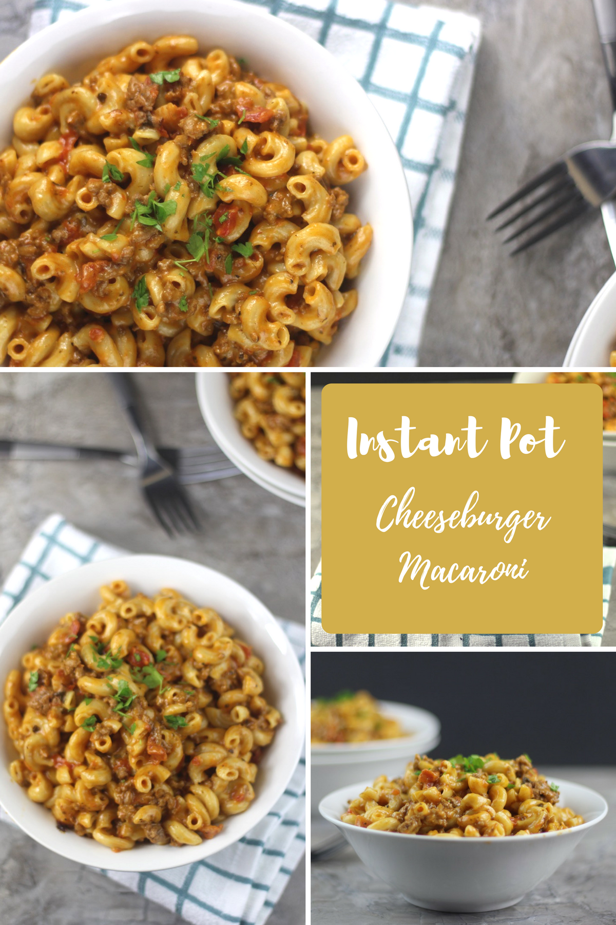 My Instant Pot Cheeseburger Macaroni (Homemade Hamburger Helper Recipe) is an awesome almost effortless, homemade hamburger helper.
