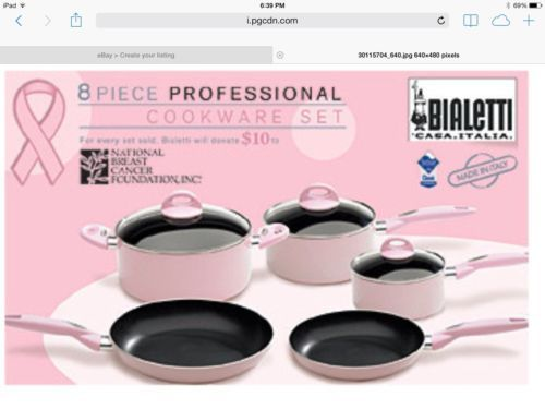 New Bialetti Kitchenaid Cuisinart Breast Cancer Pink Cookware Pots