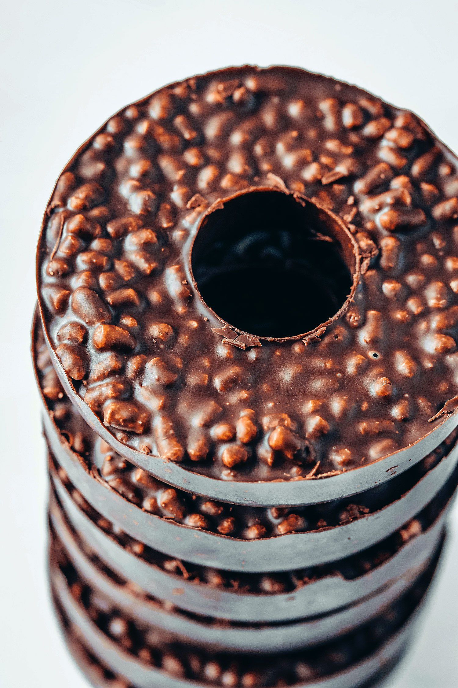 3ingredient chocolate crunch doughnuts vegan chocolate