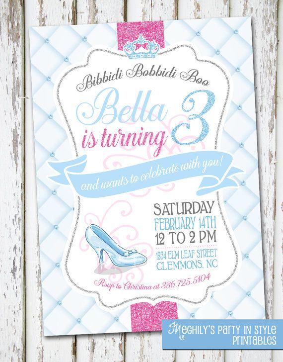 Etsy の Cinderella Birthday Invite by Meghilys