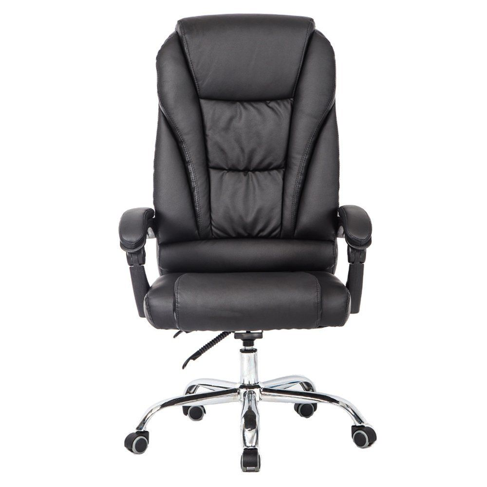 Desk chair back support leather recliner office chair