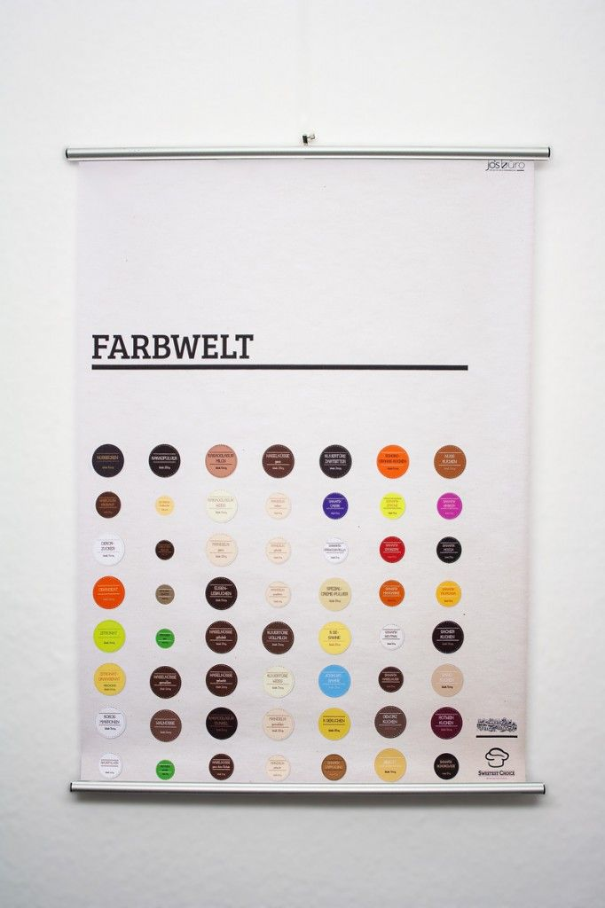 Poster Color range of products http://www.sweetest-choice.de  #finest #flavour #posterdesign