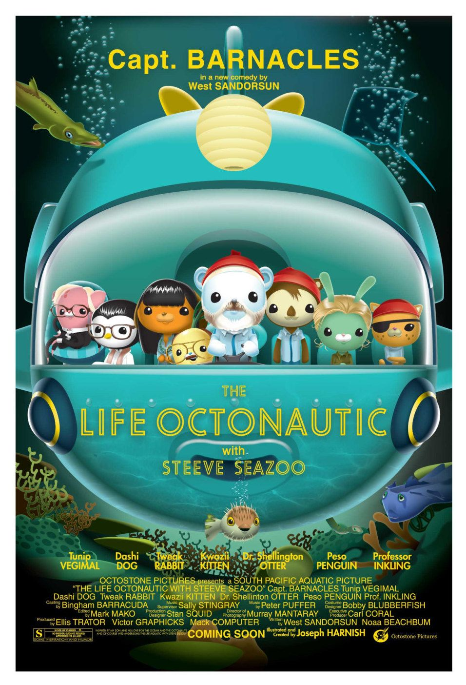 The Life Octonautic by RedBadger on Etsy