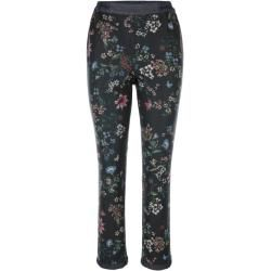 Photo of Amy Vermont, reversible pants with a floral and graphic pattern, blue Amy Vermont