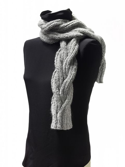 Free Pattern: Bella Lana Reversible Cable Scarf by Cornelia Griffin ...