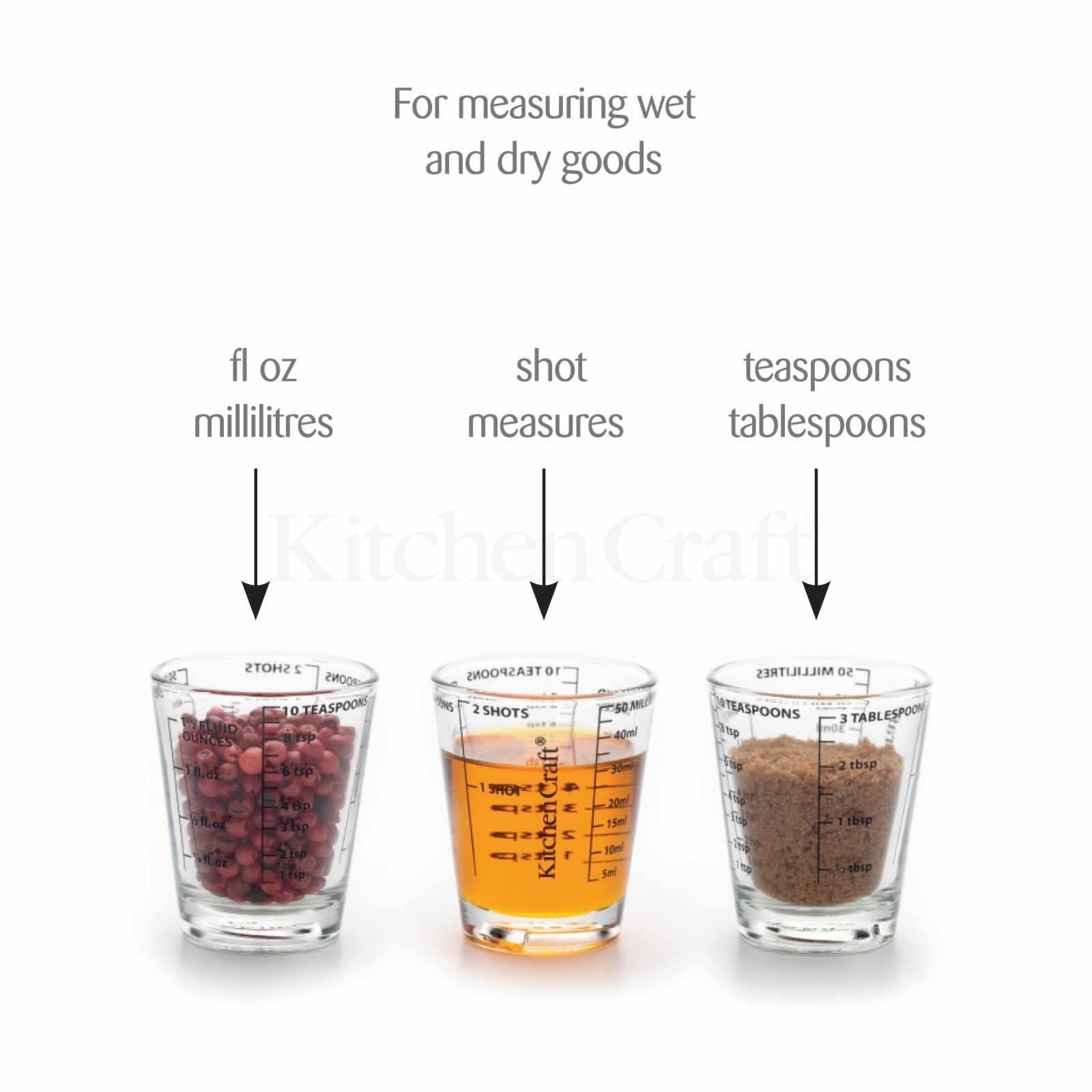 Kitchen Craft Kitchen Craft Mini Measuring Display Shot Glass Jigger Measure Cup