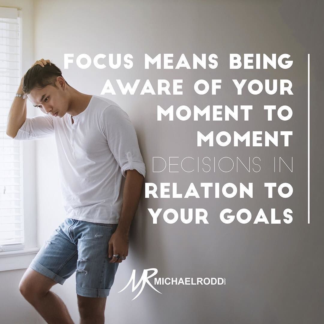 Don't sacrifice your long term goals for your momentary