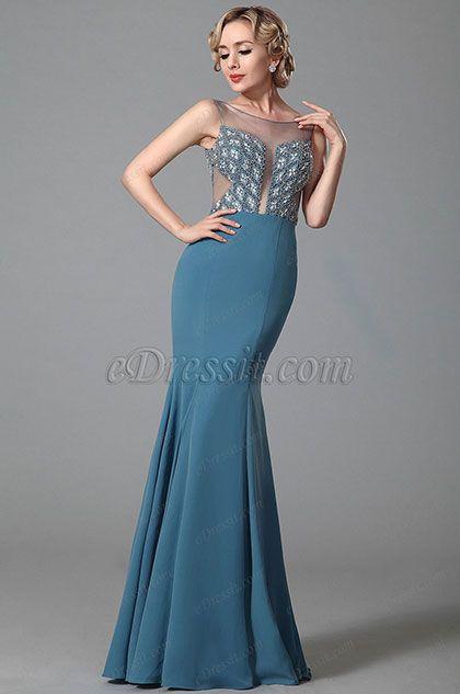 Glänzende Ärmlos Stein Abendkleid Prom Gown.jpg   Abendkleidung ...