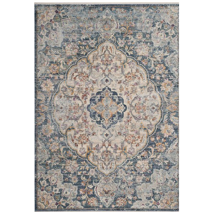 Bungalow Rose Soren Cream Blue Area Rug Wayfair Floral Rug Vintage Area Rugs Traditional Area Rugs