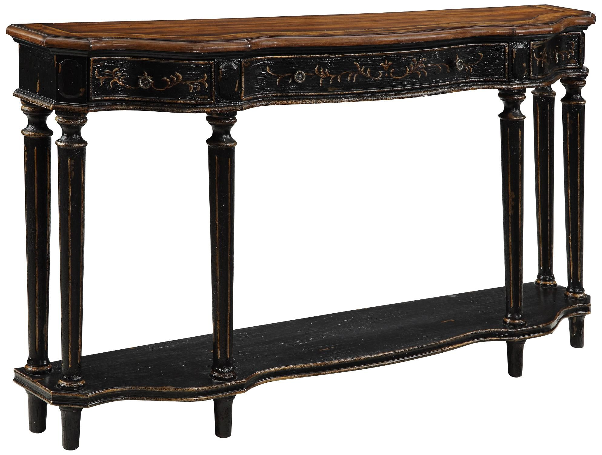 Tamryn 24 Wide Brown Cherry 2 Drawer Accent Table 4c671