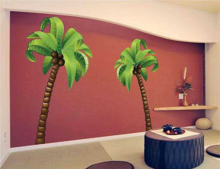 Palm Tree Wall Mural Decal Tree Wall Murals Wall Mural Decals
